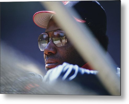 1980-1989 Metal Print featuring the photograph Bobby Bonds by Ronald C. Modra/sports Imagery