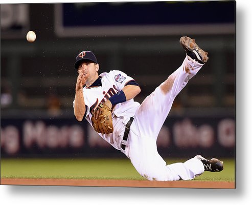 Brian Dozier Metal Print featuring the photograph Brian Dozier and Ike Davis by Hannah Foslien
