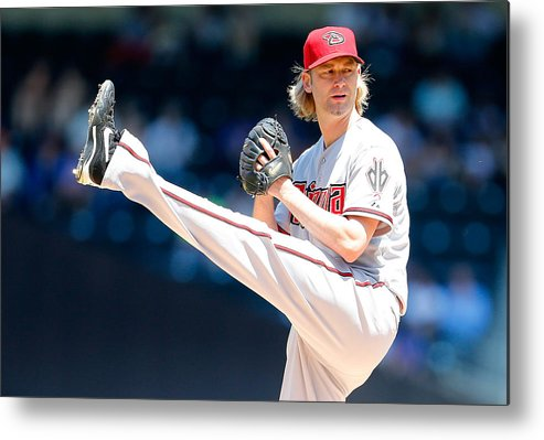 American League Baseball Metal Print featuring the photograph Bronson Arroyo by Mike Stobe
