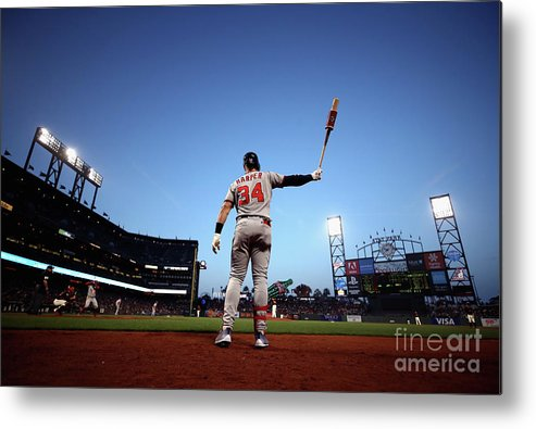 San Francisco Metal Print featuring the photograph Bryce Harper by Ezra Shaw