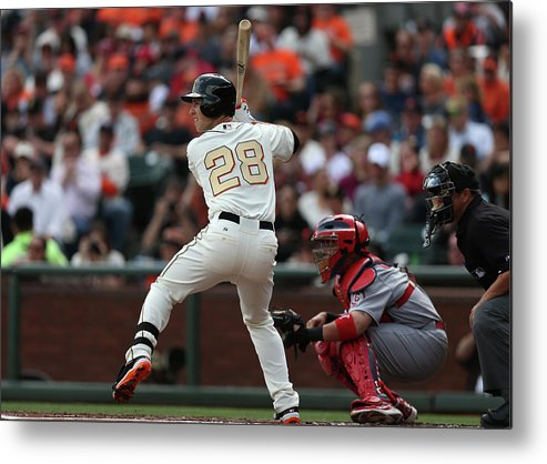 San Francisco Metal Print featuring the photograph Buster Posey by Brad Mangin