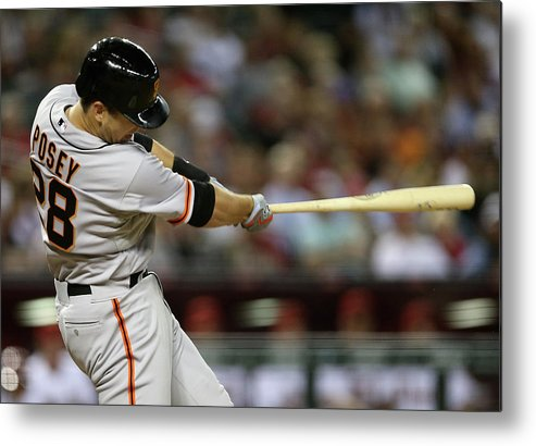 Ninth Inning Metal Print featuring the photograph Buster Posey by Christian Petersen