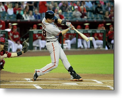 American League Baseball Metal Print featuring the photograph Buster Posey by Ralph Freso