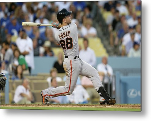 People Metal Print featuring the photograph Buster Posey by Stephen Dunn