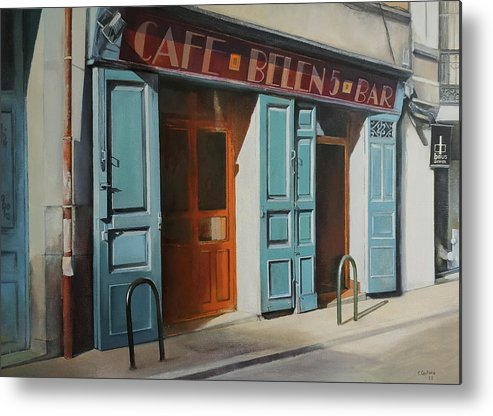 Coffee Metal Print featuring the painting cafe Belen by Tomas Castano