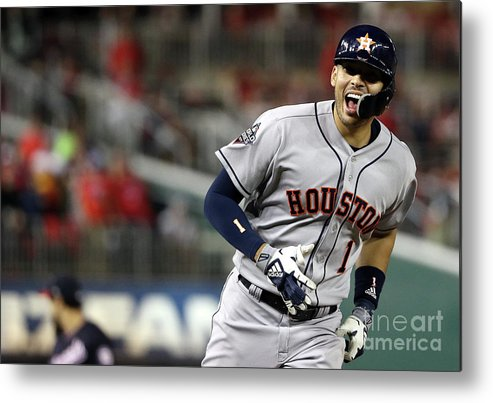 Three Quarter Length Metal Print featuring the photograph Carlos Correa by Patrick Smith