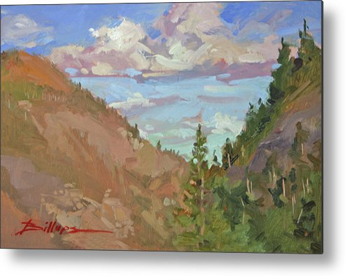 Montana Mountains Metal Print featuring the painting Carson Canyon by Betty Jean Billups