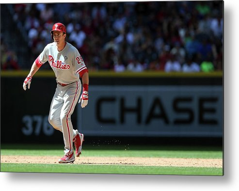 2nd Base Metal Print featuring the photograph Chase Utley by Christian Petersen