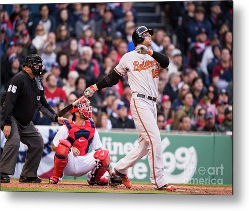 Ninth Inning Metal Print featuring the photograph Chris Davis by Michael Ivins/boston Red Sox
