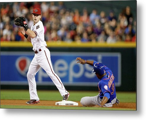 People Metal Print featuring the photograph Chris Owings and Curtis Granderson by Christian Petersen