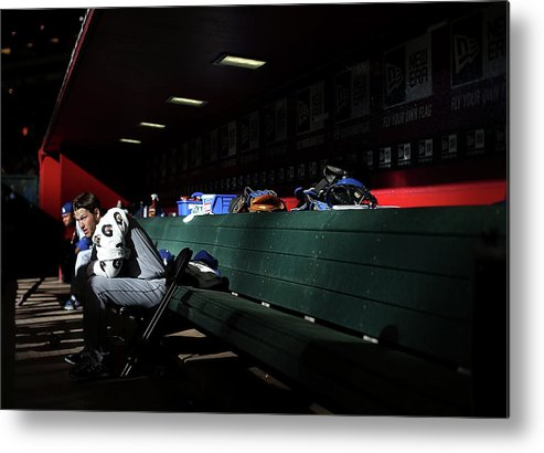 Baseball Pitcher Metal Print featuring the photograph Clayton Kershaw by Christian Petersen