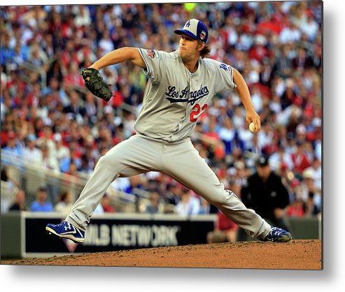 Clayton Kershaw Metal Print featuring the photograph Clayton Kershaw by Rob Carr