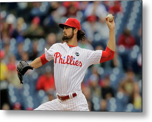 Three Quarter Length Metal Print featuring the photograph Cole Hamels by Hunter Martin