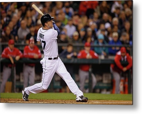 American League Baseball Metal Print featuring the photograph Corey Hart by Otto Greule Jr