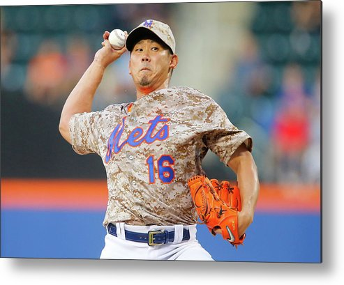 Second Inning Metal Print featuring the photograph Daisuke Matsuzaka by Jim Mcisaac