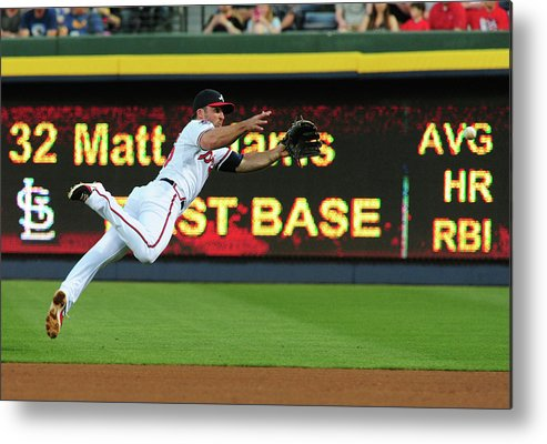 Atlanta Metal Print featuring the photograph Dan Uggla by Scott Cunningham