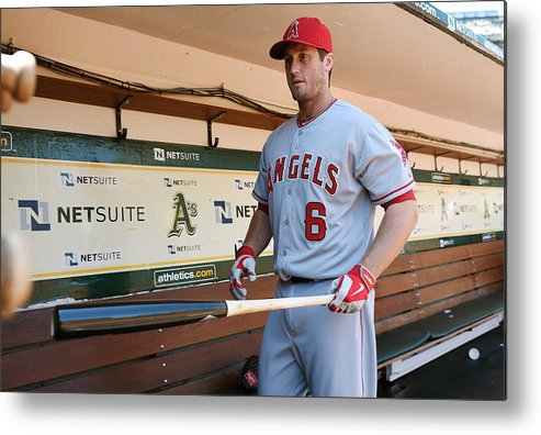 American League Baseball Metal Print featuring the photograph David Freese by Thearon W. Henderson