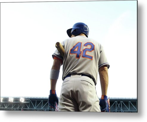 Baseball Uniform Metal Print featuring the photograph David Wright by Christian Petersen