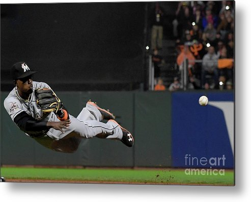 San Francisco Metal Print featuring the photograph Dee Gordon and Brandon Crawford by Thearon W. Henderson
