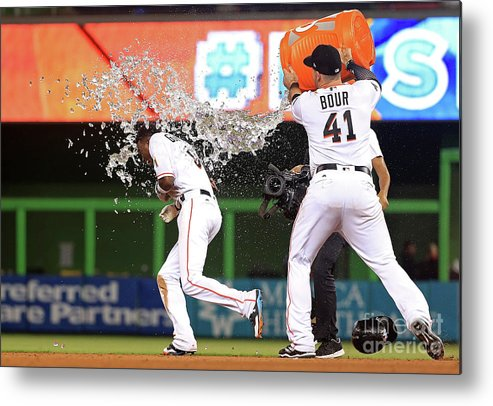 People Metal Print featuring the photograph Dee Gordon by Mike Ehrmann