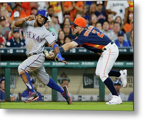 Alex Bregman Metal Print featuring the photograph Delino Deshields by Bob Levey
