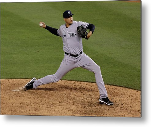 American League Baseball Metal Print featuring the photograph Dellin Betances by Ed Zurga