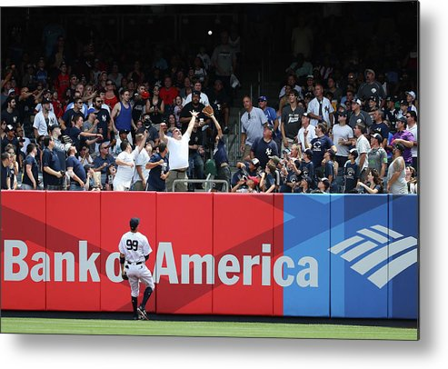 People Metal Print featuring the photograph Domingo Santana and Aaron Judge by Al Bello