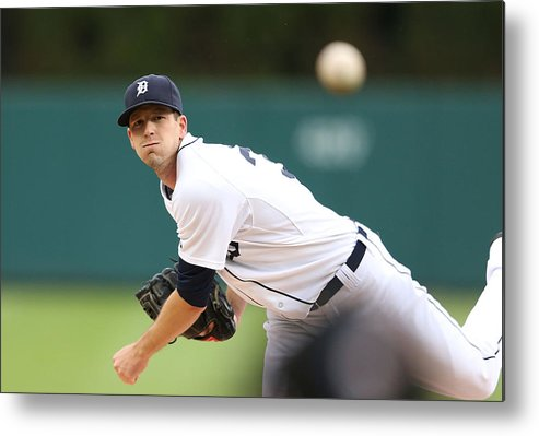 American League Baseball Metal Print featuring the photograph Drew Smyly by Leon Halip