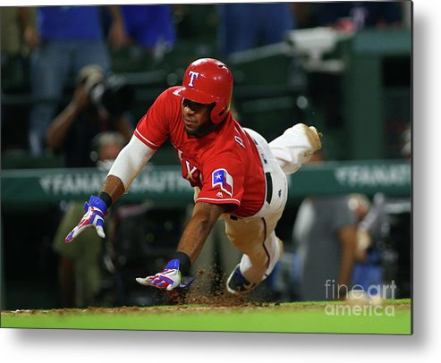 Ninth Inning Metal Print featuring the photograph Elvis Andrus by Rick Yeatts