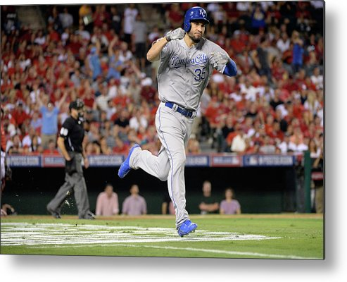Game Two Metal Print featuring the photograph Eric Hosmer by Harry How