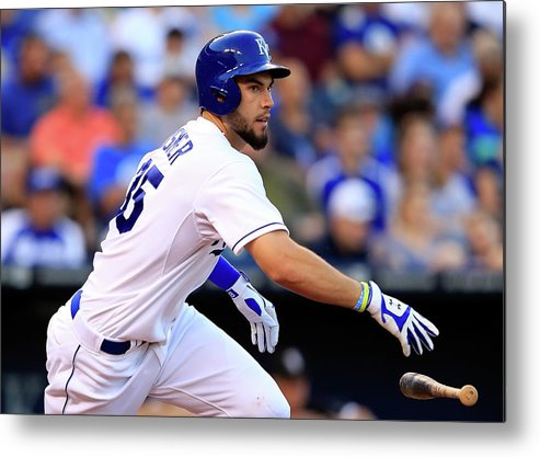 American League Baseball Metal Print featuring the photograph Eric Hosmer by Jamie Squire