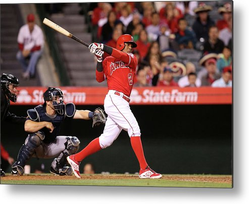 People Metal Print featuring the photograph Erick Aybar by Stephen Dunn
