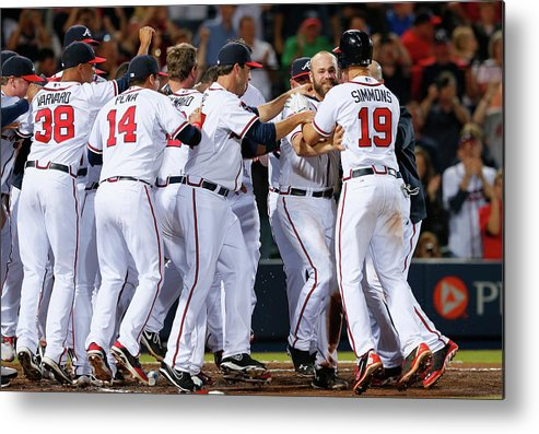 Atlanta Metal Print featuring the photograph Evan Gattis and Dan Uggla by Kevin C. Cox