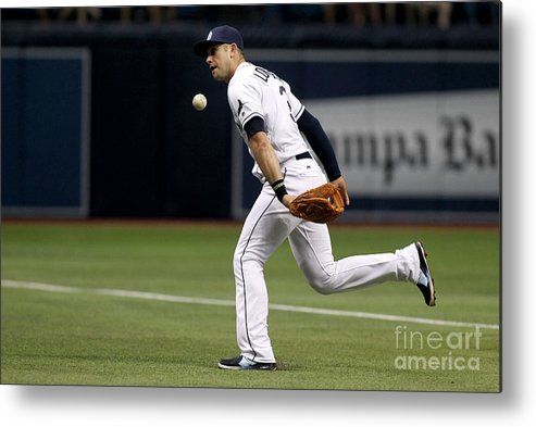 People Metal Print featuring the photograph Evan Longoria and Lorenzo Cain by Brian Blanco