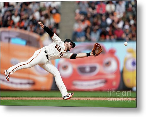 San Francisco Metal Print featuring the photograph Evan Longoria and Willy Adames by Thearon W. Henderson