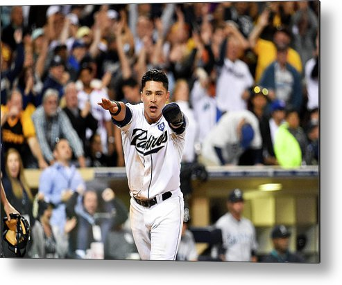 American League Baseball Metal Print featuring the photograph Everth Cabrera by Denis Poroy