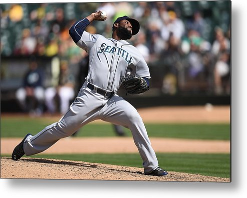 American League Baseball Metal Print featuring the photograph Fernando Rodney by Thearon W. Henderson