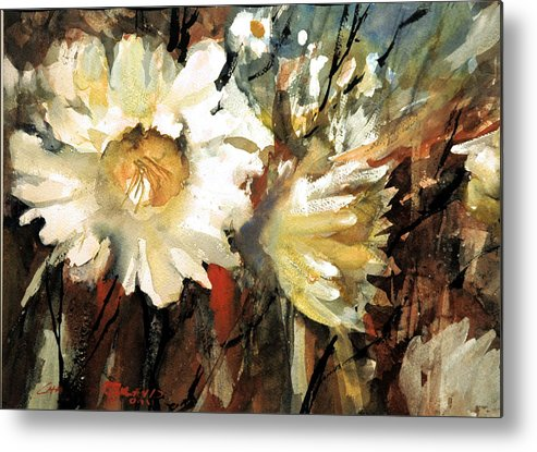 F;pral Metal Print featuring the painting Floral Fantasy by Charles Rowland