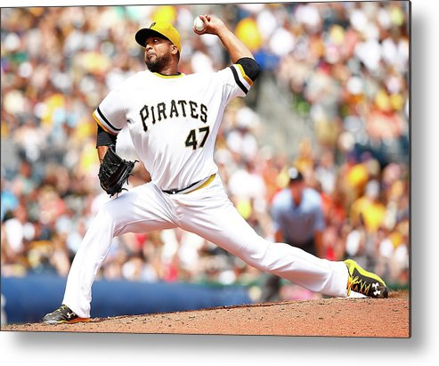 People Metal Print featuring the photograph Francisco Liriano by Jared Wickerham
