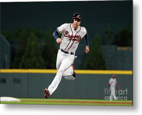 Atlanta Metal Print featuring the photograph Freddie Freeman and Nick Markakis by Kevin C. Cox