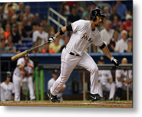American League Baseball Metal Print featuring the photograph Garrett Jones by Mike Ehrmann
