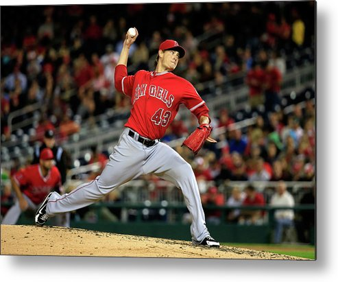 American League Baseball Metal Print featuring the photograph Garrett Richards by Rob Carr