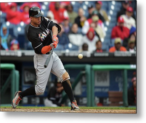 People Metal Print featuring the photograph Giancarlo Stanton by Drew Hallowell
