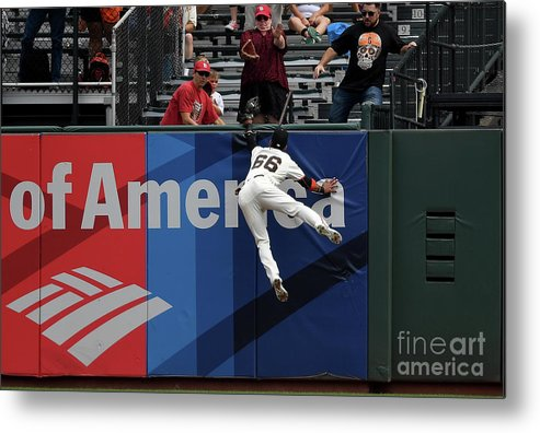 San Francisco Metal Print featuring the photograph Gorkys Hernandez and Tommy Pham by Thearon W. Henderson