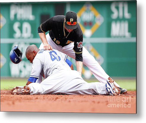 Second Inning Metal Print featuring the photograph Howie Kendrick and Neil Walker by Jared Wickerham
