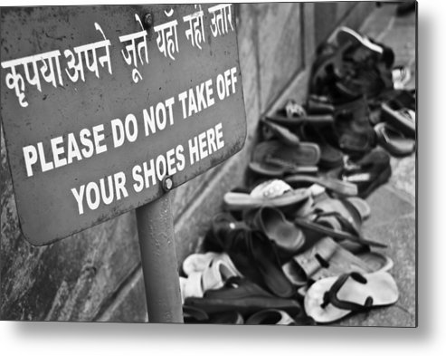 Heap Metal Print featuring the photograph I love India !  by Luisapuccini
