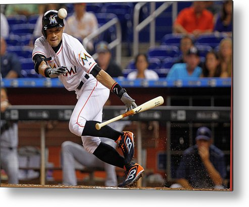 People Metal Print featuring the photograph Ichiro Suzuki by Mike Ehrmann
