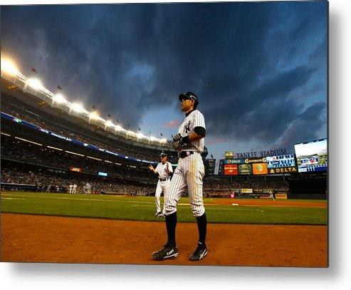 American League Baseball Metal Print featuring the photograph Ichiro Suzuki by Mike Stobe