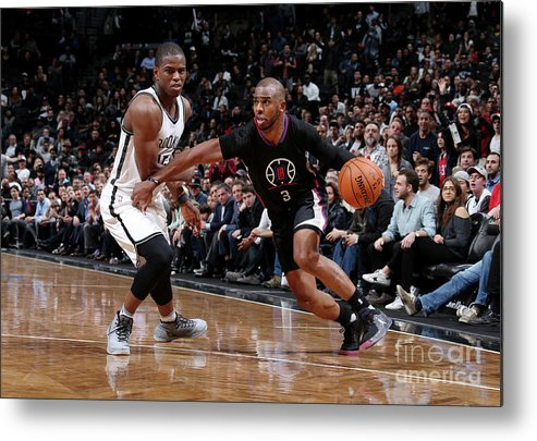 Nba Pro Basketball Metal Print featuring the photograph Isaiah Whitehead and Chris Paul by Nathaniel S. Butler