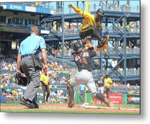 Event Metal Print featuring the photograph J. T. Realmuto by Justin Berl